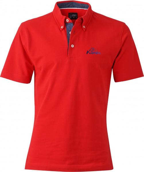 Herren-Polo-Shirt Denim